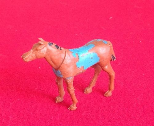 CORGI TOYS 1104 - Original - Horsebox Brown plastic horse with a painted Blue coat [Each]